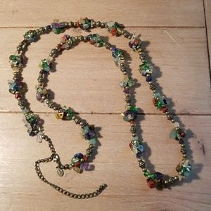 Cookie Lee multi stone cluster necklace
